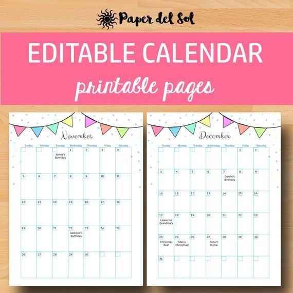 Printable Calendar 2019 Calendar Printable Calendars 2019 Free Calendar I Can Edit