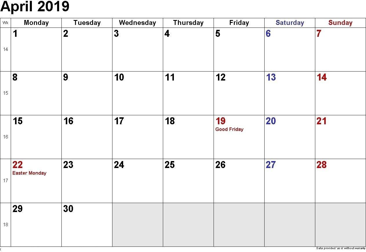 Printable Calendar 2019 You Can Edit | Printable Calendar Free Calendars You Can Edit And Print