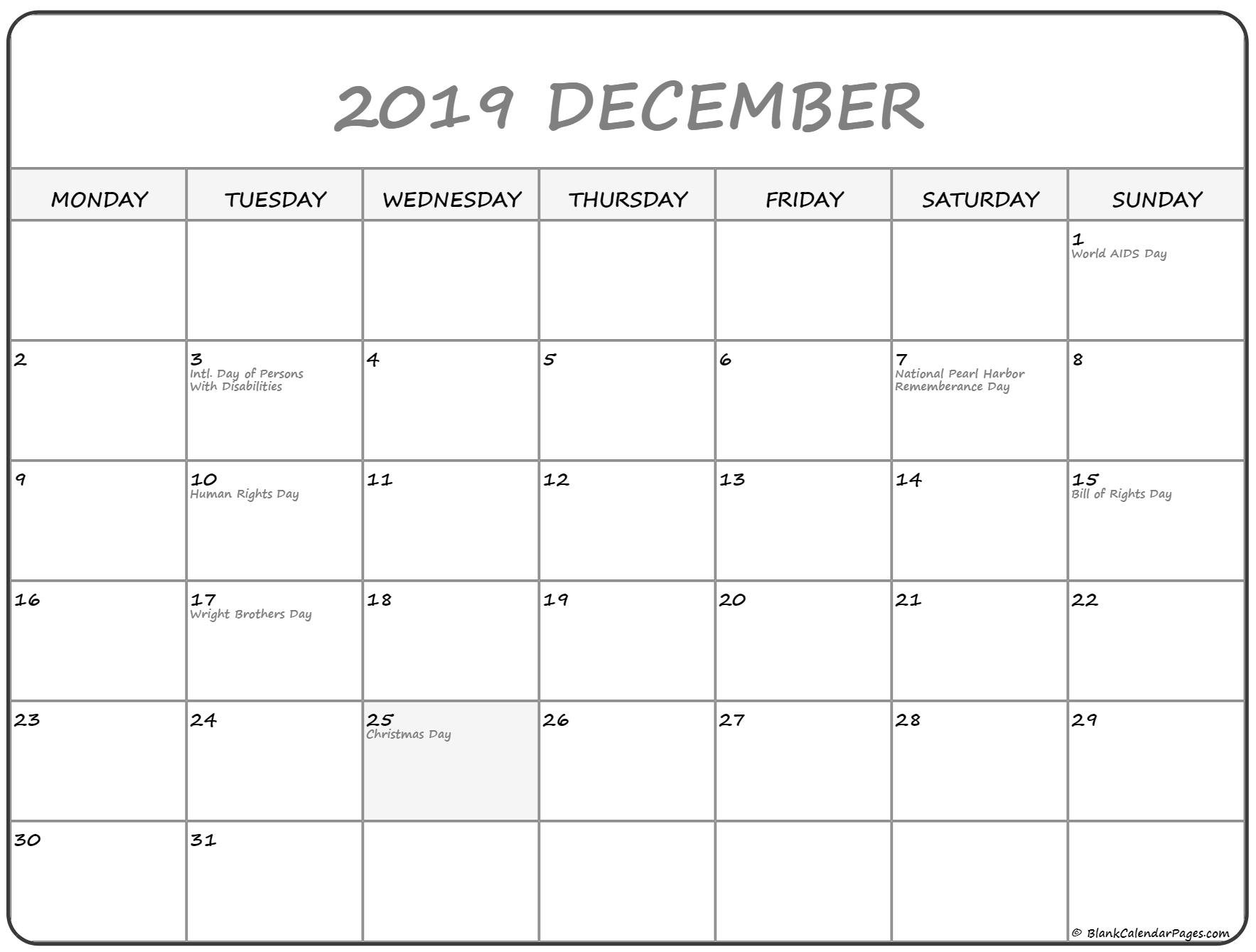 Printable Calendar Monday To Sunday | Example Calendar Free Printable Monday Thru Sunday Calendars