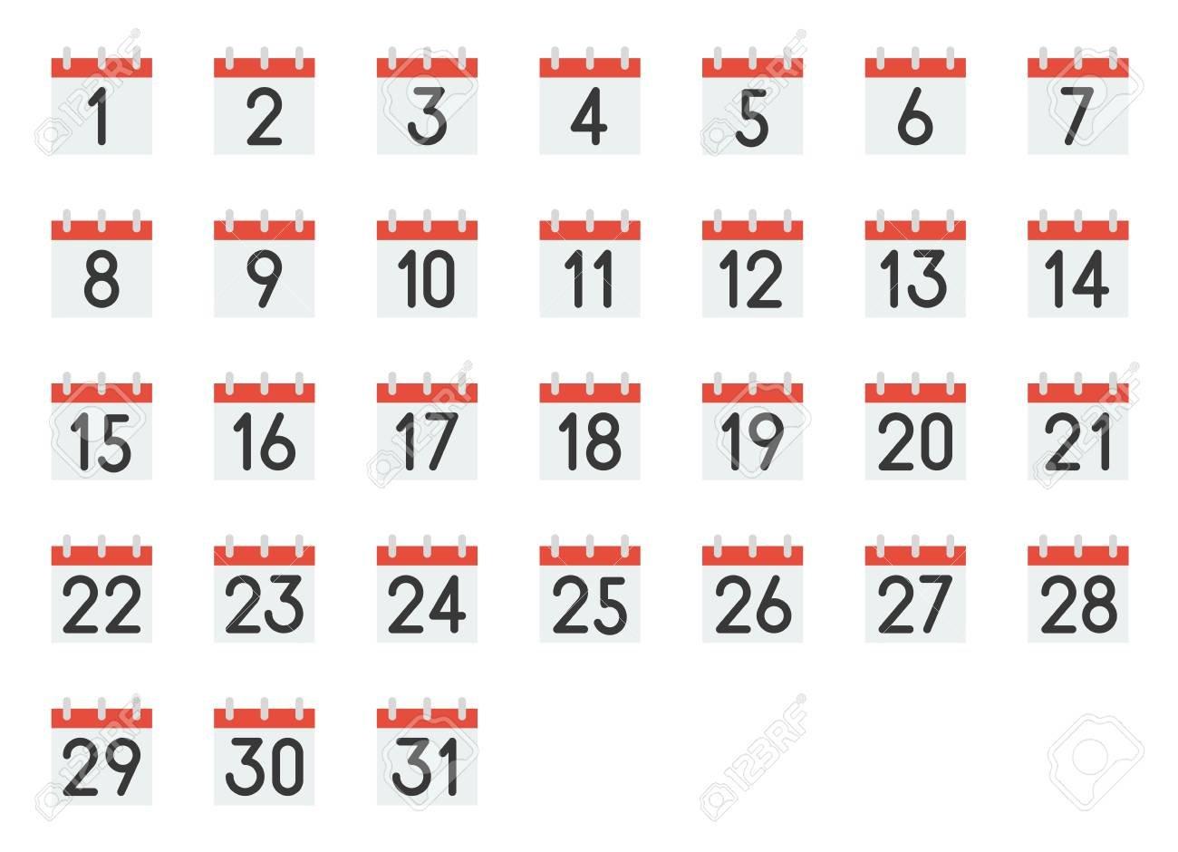 Printable Calendar Numbers 1-31   Calendar Printables Free 31 Day Calendar Template
