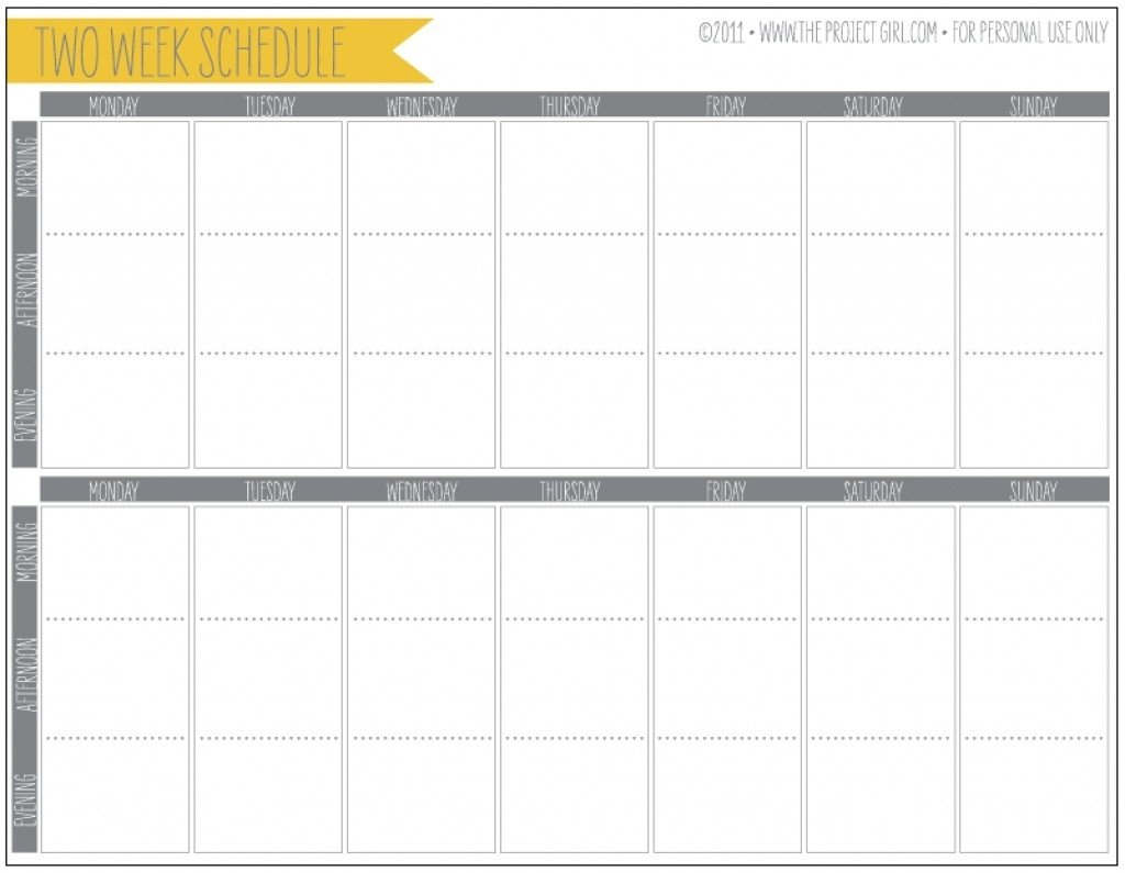 Printable Calendar Two Weeks | Ten Free Printable Calendar Printable Two Week Calendar