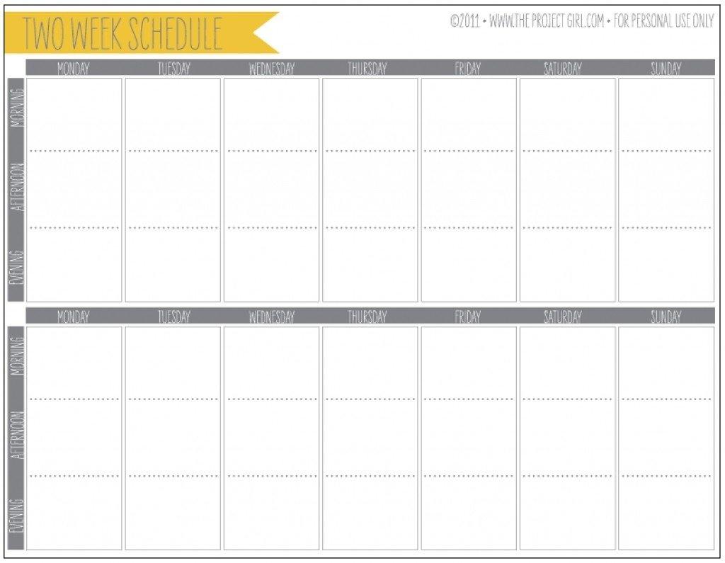 Printable Calendar Two Weeks   Ten Free Printable Calendar Two Week Calendar Printable