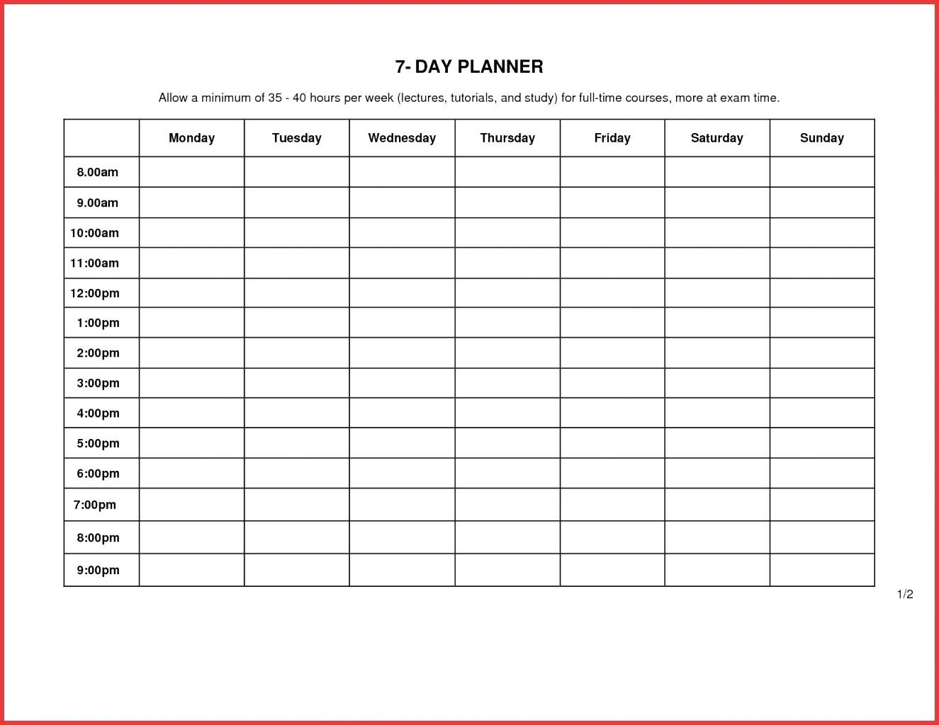 Printable Daily Calendarhour | Example Calendar Printable Printable Daily Calendar With Hours