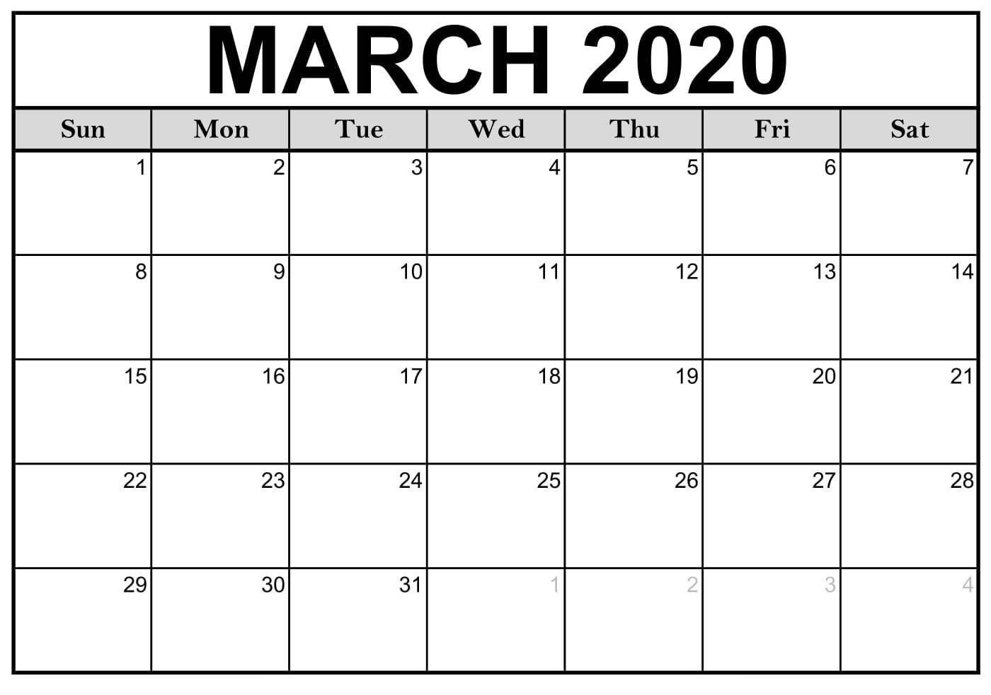 Printable Fill In 2020 Calndar - Calendar Inspiration Design Calendar To Fill In And Print