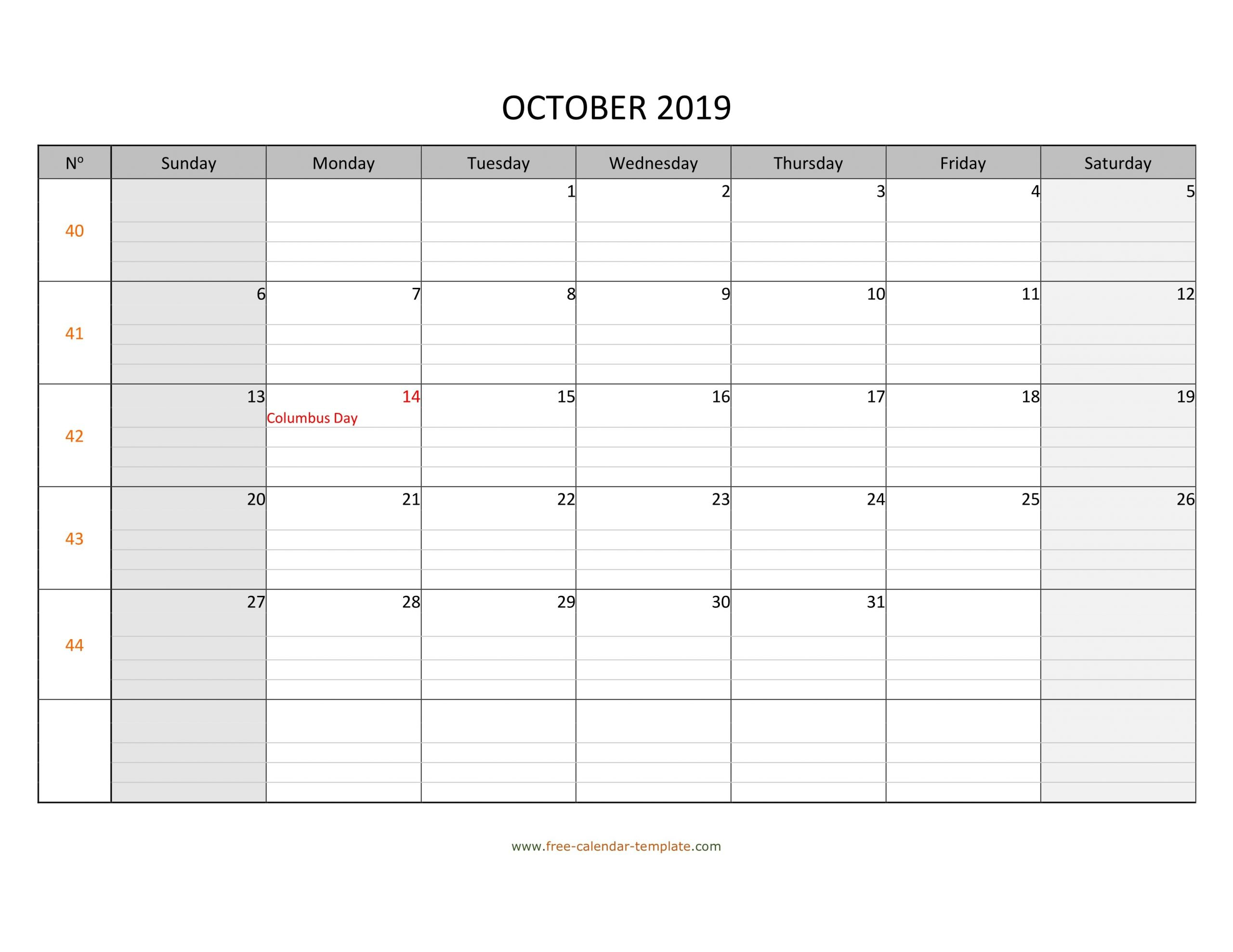 Printable Lined Monthly Calendar | Calendar For Planning Lined Monthly Calendar Free