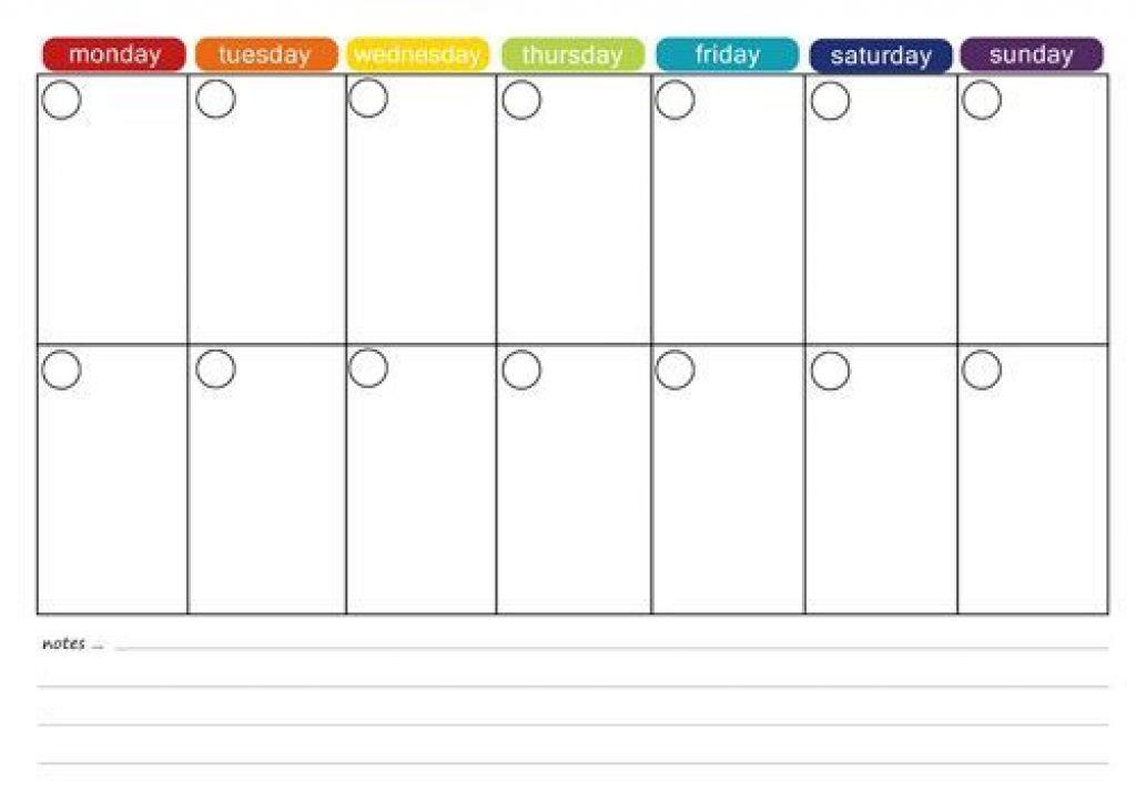 Printable Two Week Calendar Two Week Planner Template
