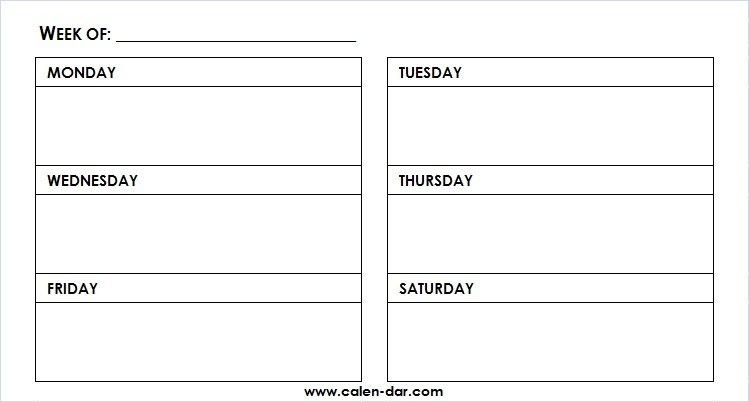 Printable Weekly Calendar Template Monday-Friday With Time This Week Monday To Friday Printable Calendar