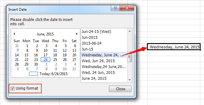 Quickly Insert A Date Or A Formatted Date In Excel Inserting A Dropdown Calendar In Excel