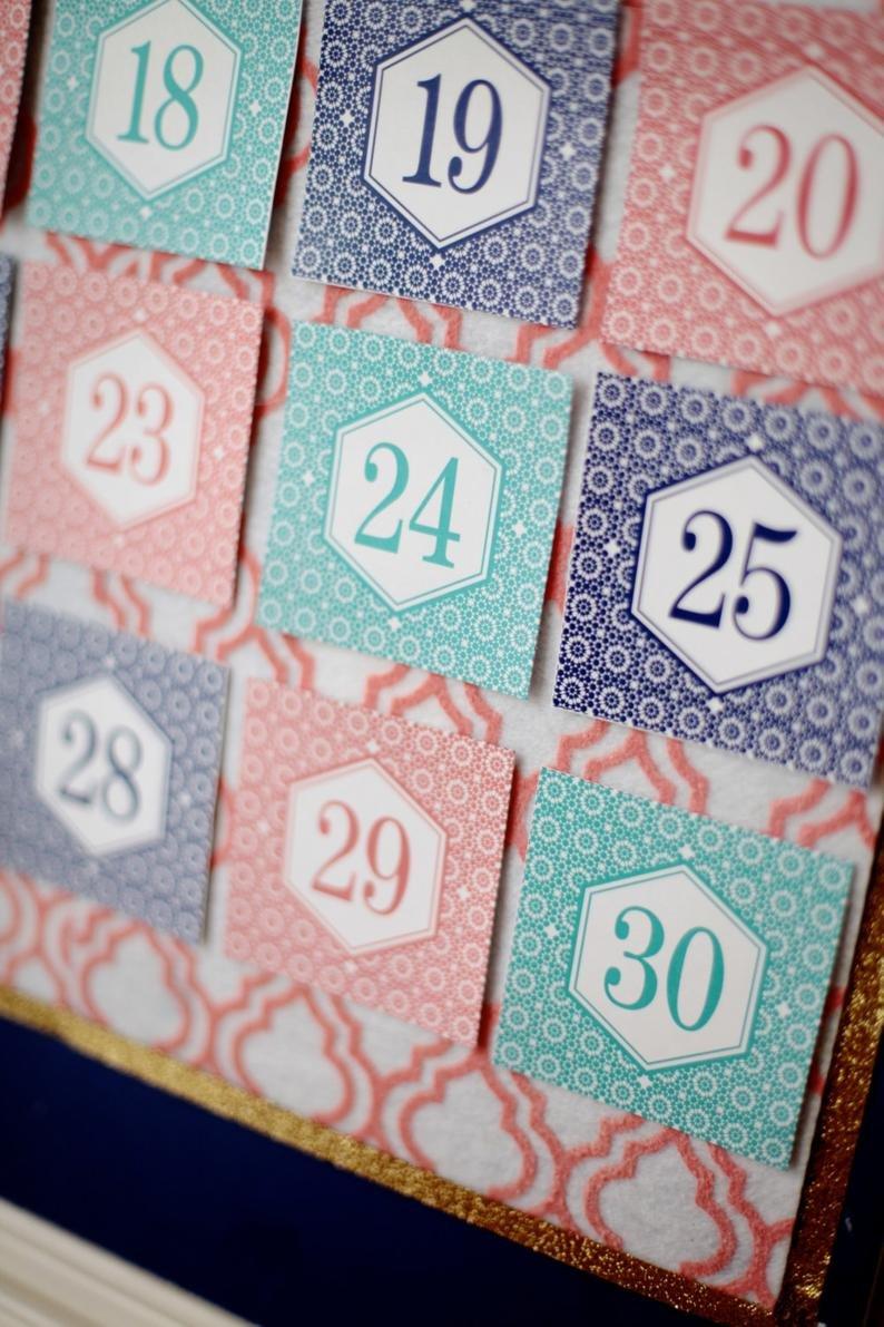 Ramadan Calendar 30 Days Of Good Deeds Countdown To Eid | Etsy Ramadan Countdown Free Printable
