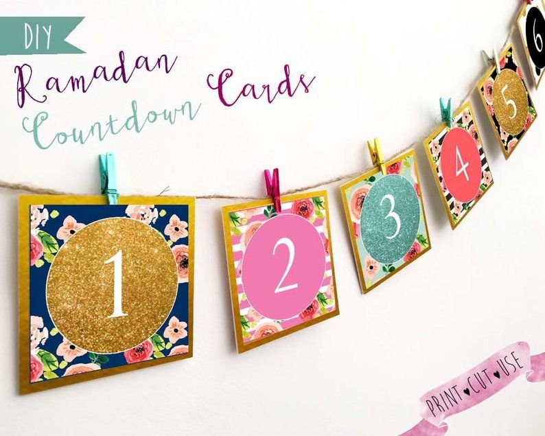 Ramadan Countdown, Ramadan Advent Calendar, Printable Ramadan Countdown Free Printable