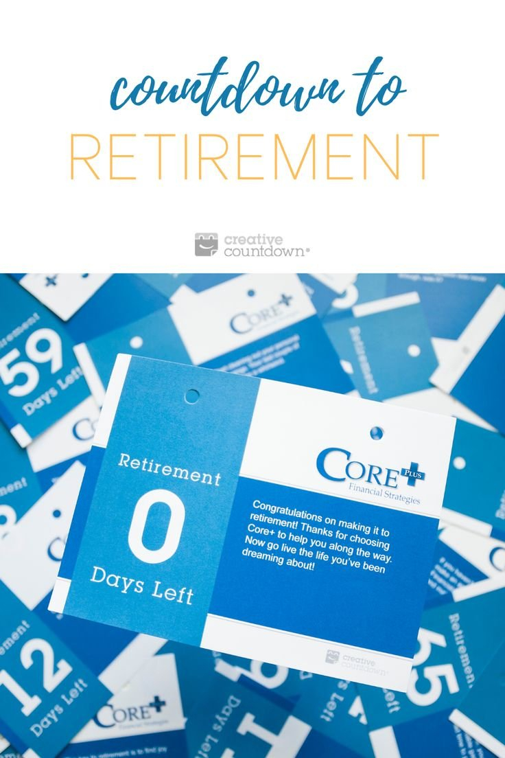 Retirement Countdown Calendar In 2020 | Countdown Calendar Countdown Calendar To Retirement