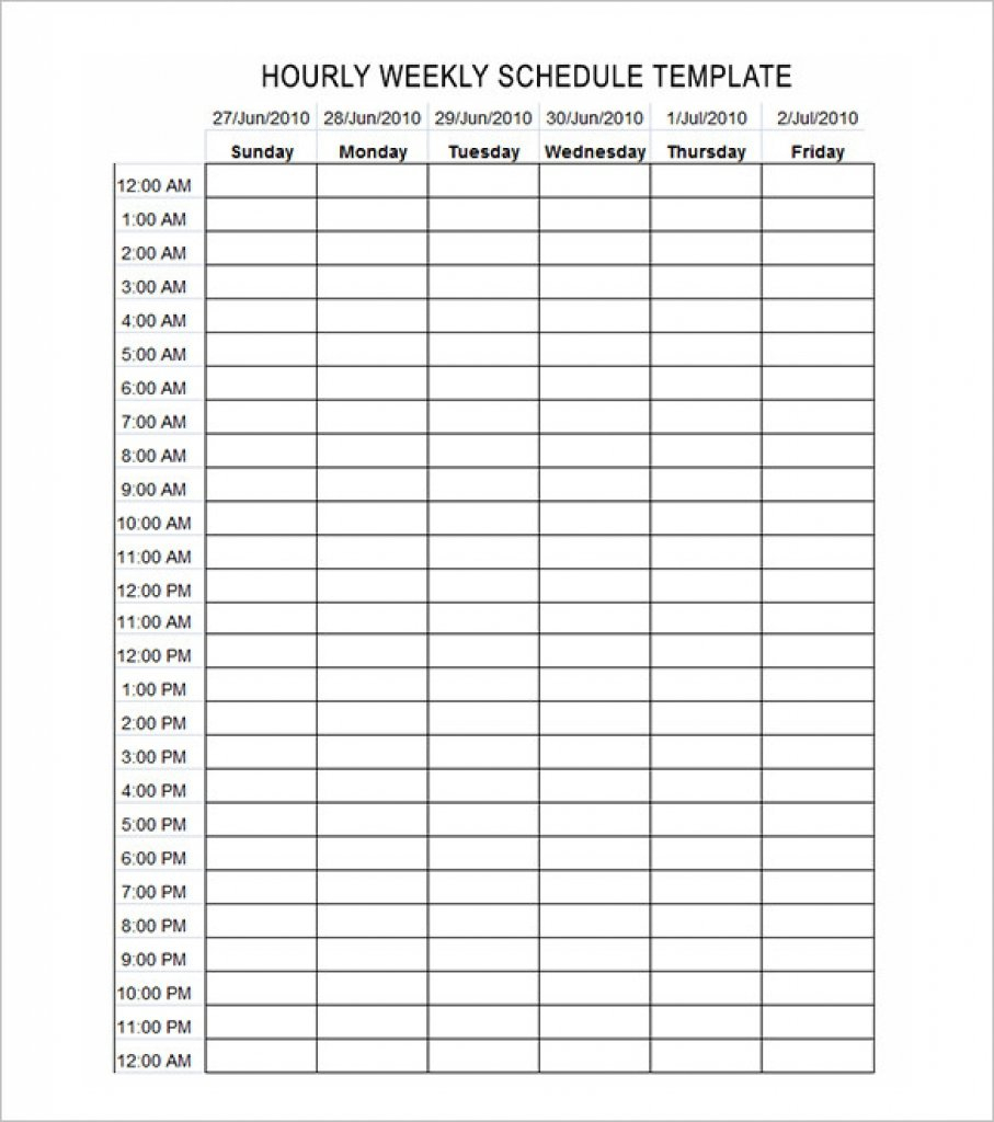 Schedule Calendar Printable Hour | Example Calendar Printable Hour Calendar Template Printable