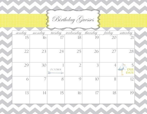 Search Results For Baby Calendar Due Date Template | Guess 365 Day Calendar Counter