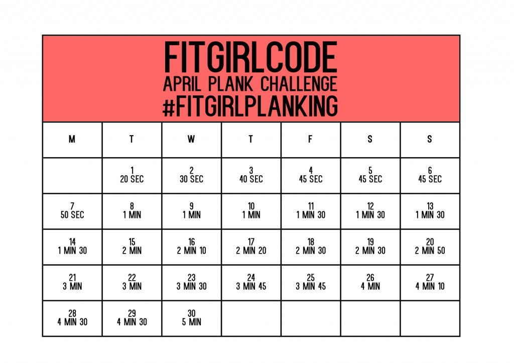 "Search Results For ""January Squat Challenge 2015 Printable Plank Challenge Calendar"