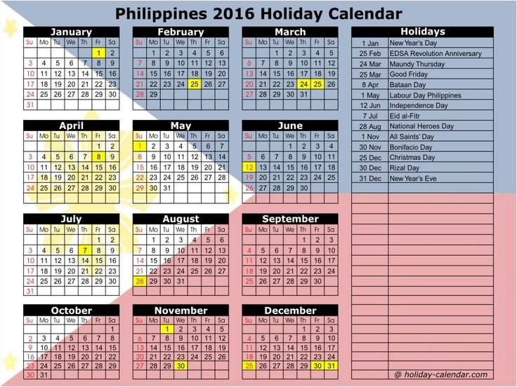 September 2016 Calendar Philippines | National Day Calendar Free 2016 Calendar With Room For Taking Notes