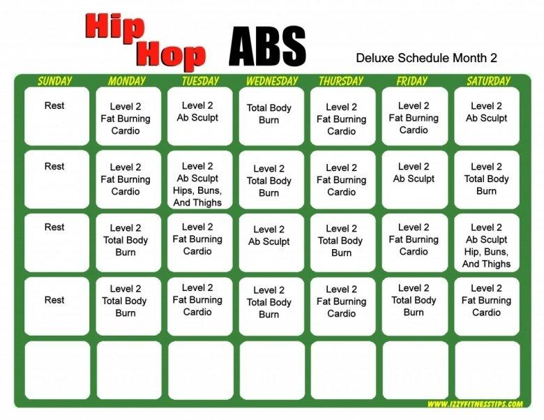 Shaun T Hip Hop Abs Calendar Printable :-Free Calendar Hip Hop Abs Schedule Printable