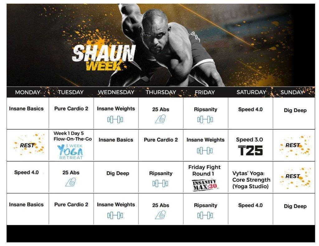 Shaun T Week Calendar | Calendar Printables Free Templates Hip Hop Abs Schedule Printable