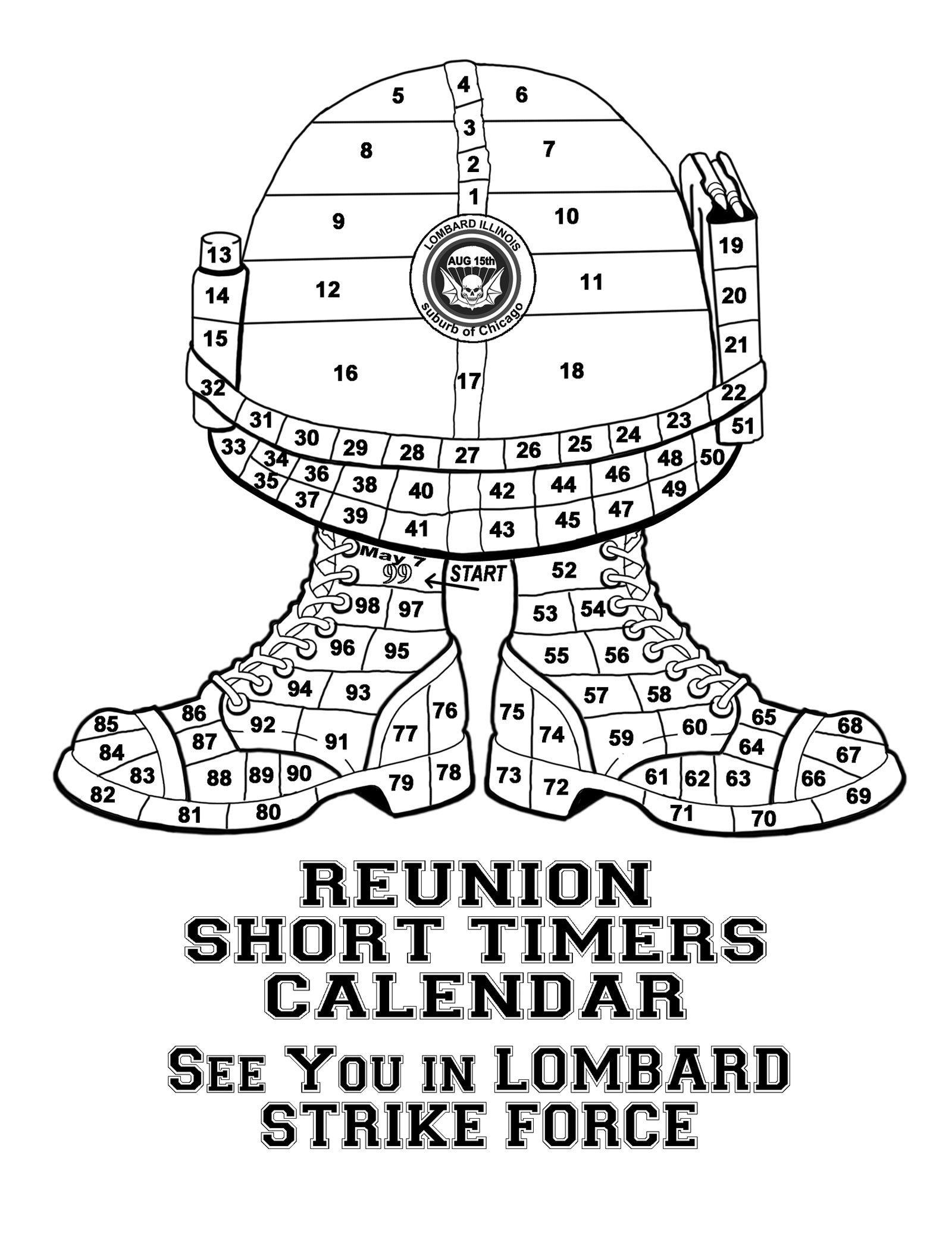Short Timers Calendar Image | Calendar Template 2020 Hunk Short Timers Calendar