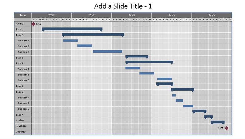 Simple Gantt Chart Excel 5 Year Calendar