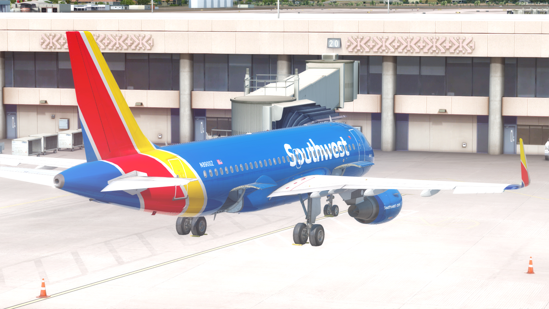 Southwest Airlines Fictional N8900Z A319 For As Pro Series Southwest Airlines Monthly Calendar