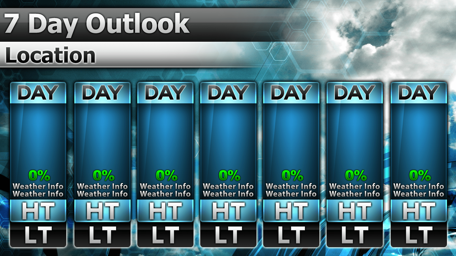 Temp 16 7 Day Preview | Metgraphics | Weather Graphics 7 Day Router Blank