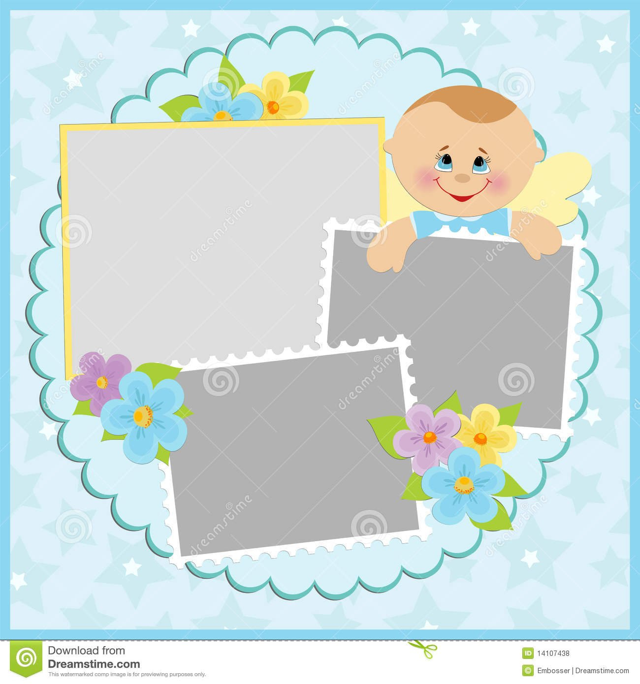 Template For Baby'S Photo Album Royalty Free Stock Photos Tempalate For Baby Sweepstake