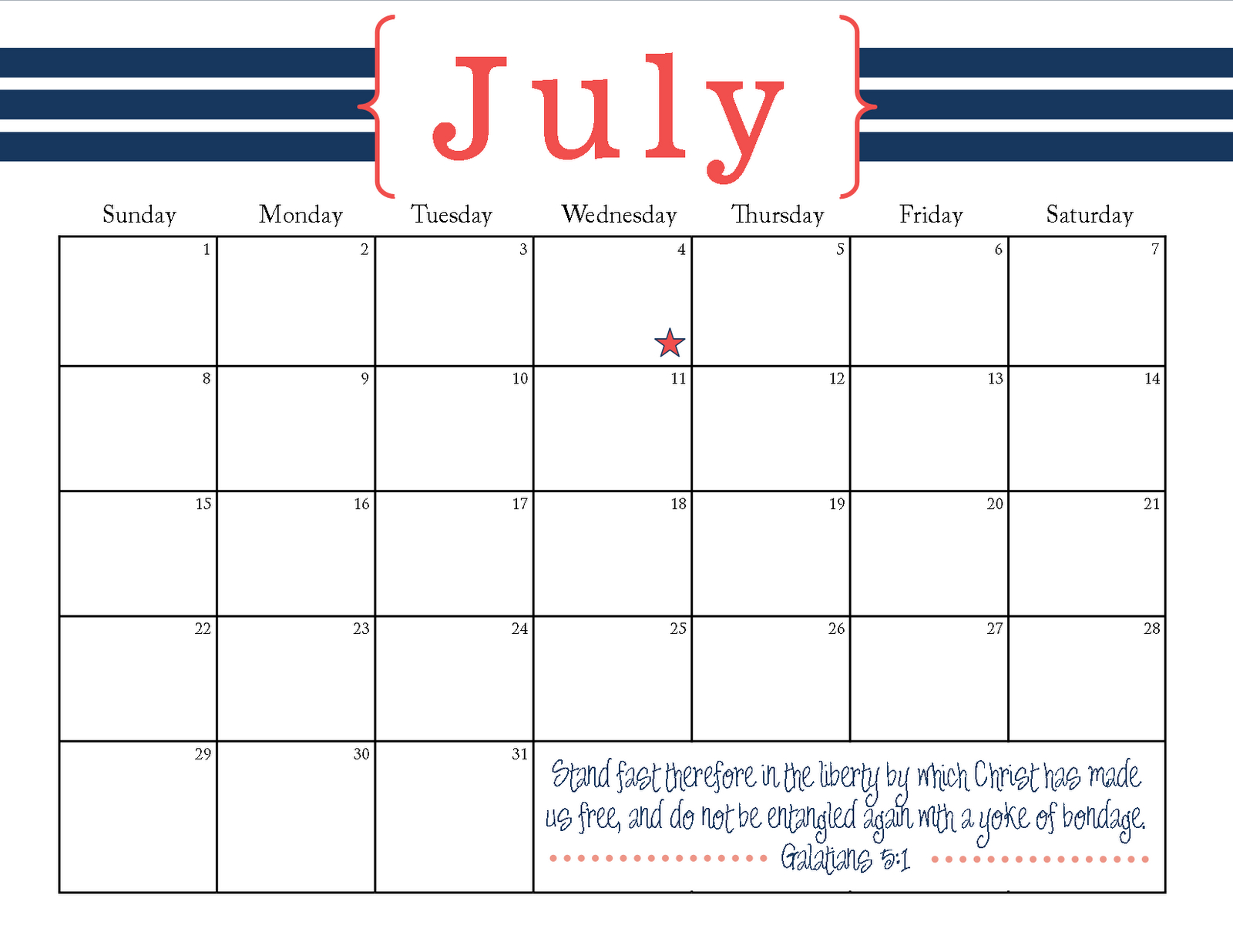 The Blogging Pastors Wife: Printable July 2012 Calendar Printable Calendar For The Week Of March 2 Thru March 6