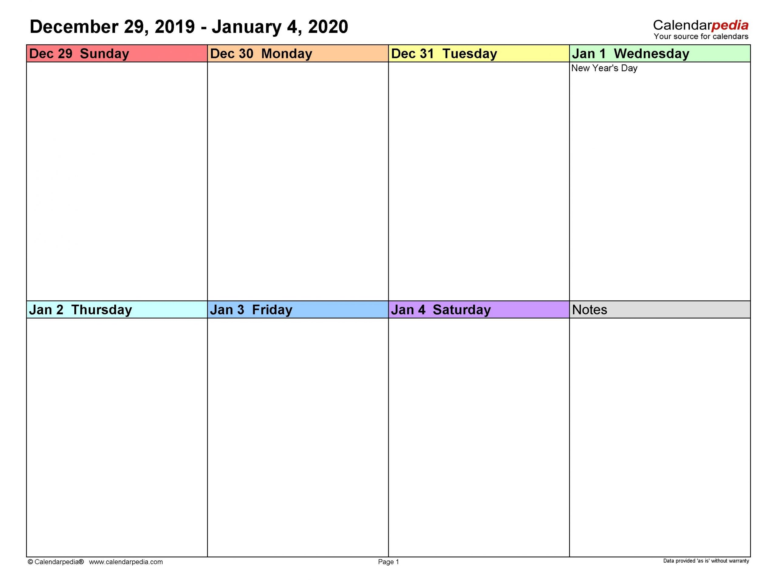 The Editable 2 Week Calendars In 2020 | Free Calendar Free Week Calendar Editable