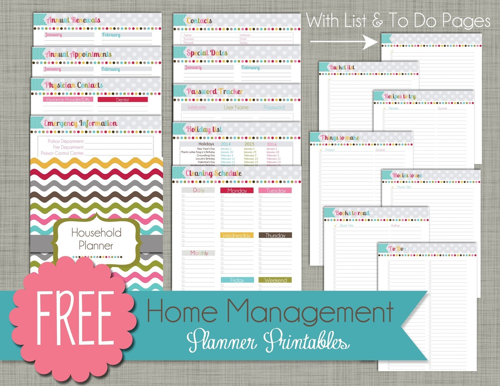 The Polka Dot Posie: How To Print & Assemble Our Small 5 1/2 X 8 1/2 Page Daily Calendar Template Editable