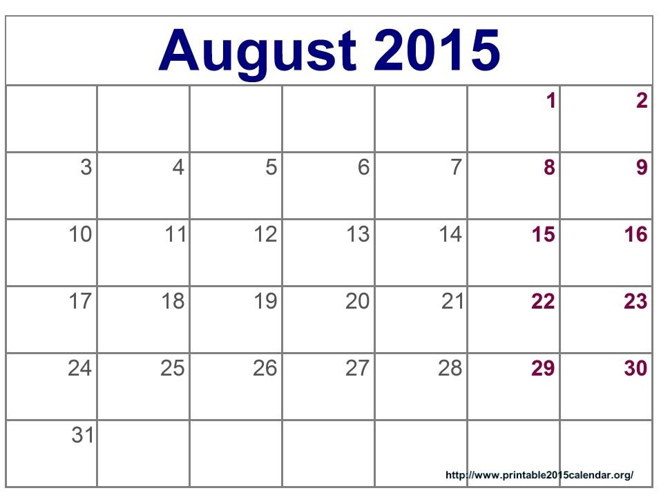 Time And Date August 2015 Calendar Full Templates For You Monthly Calendars You Can Edit
