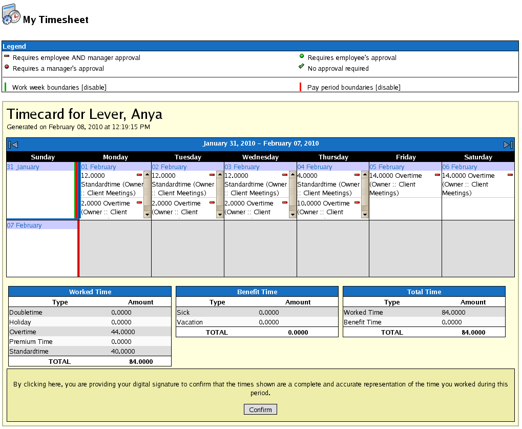 Timeips :: Time Clock, Attendance And Payroll Solution Printable Timesheet With Running Calendar