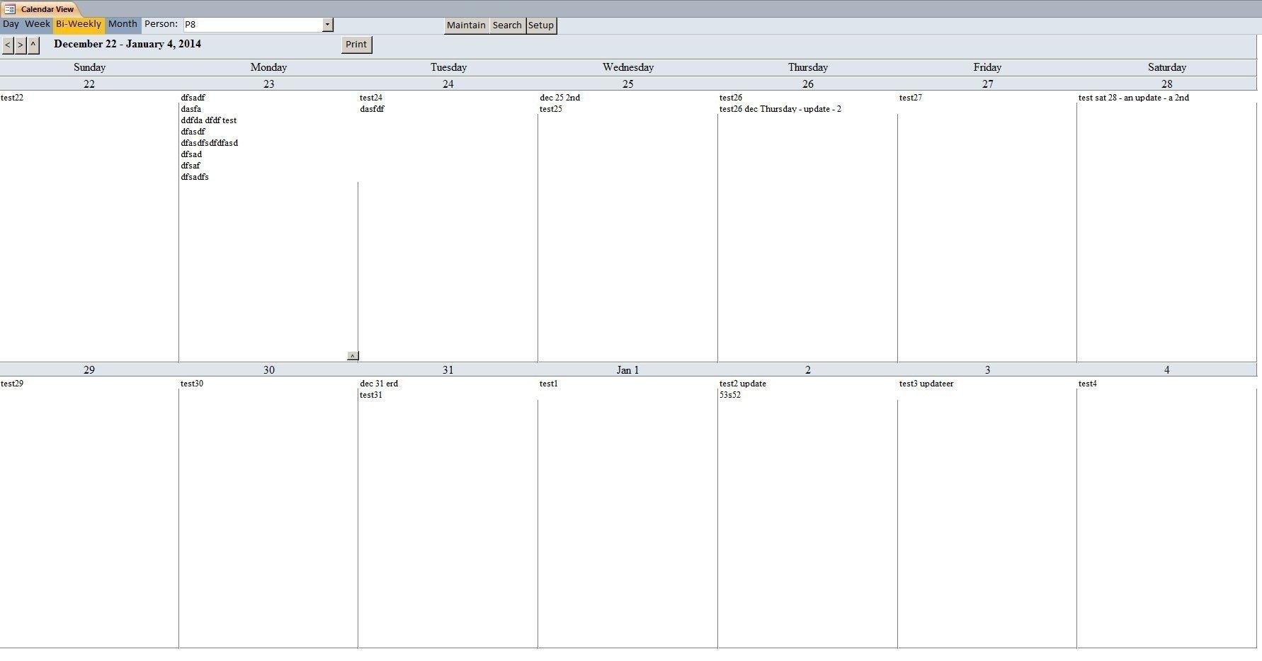 Two Week Schedule Template | Calendar Template Printable Two Week Schedule Template