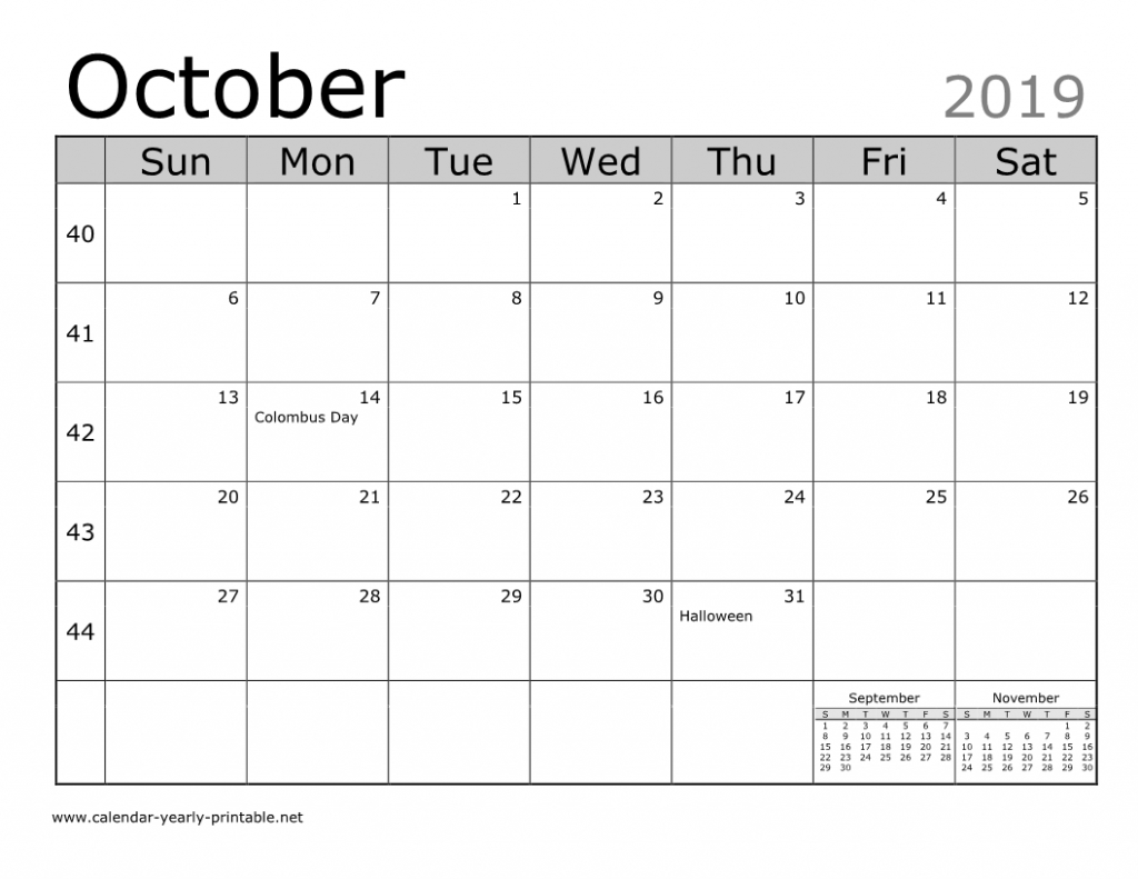 Unique Things You Can Celebrate In October 2019 Calendar Printable Calendars That You Can Edit