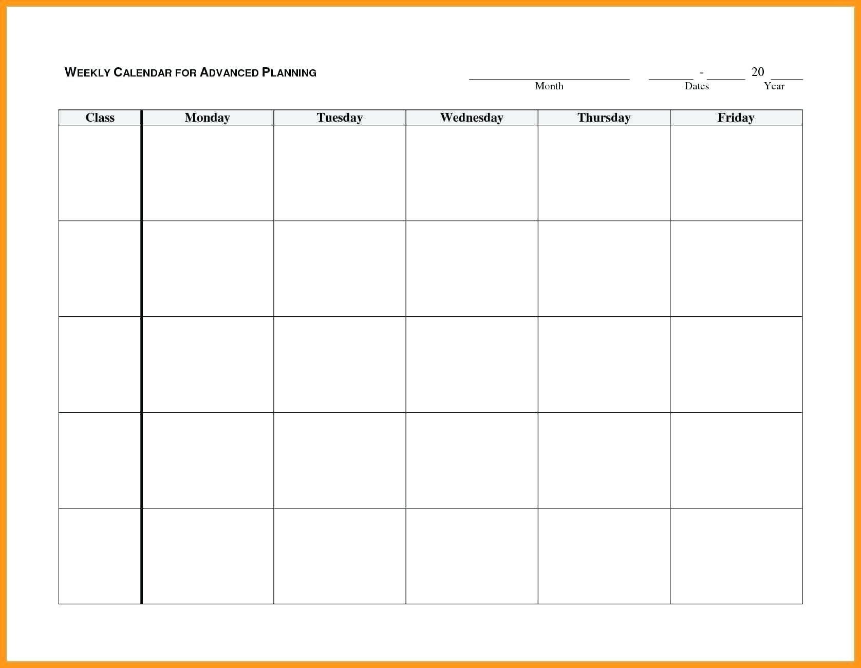 Universal Blank Calendar Grid Moday-Friday – Get Your Blank Calendar Grid Moday-Friday
