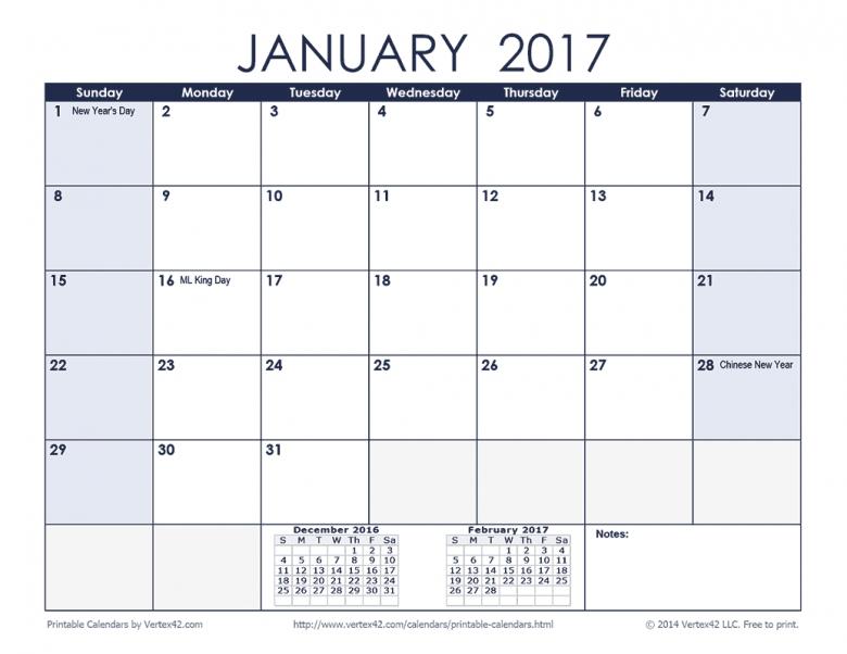 Vertex42 Calendars With Holidays :-Free Calendar Template 3 Month Calendar Printable Free