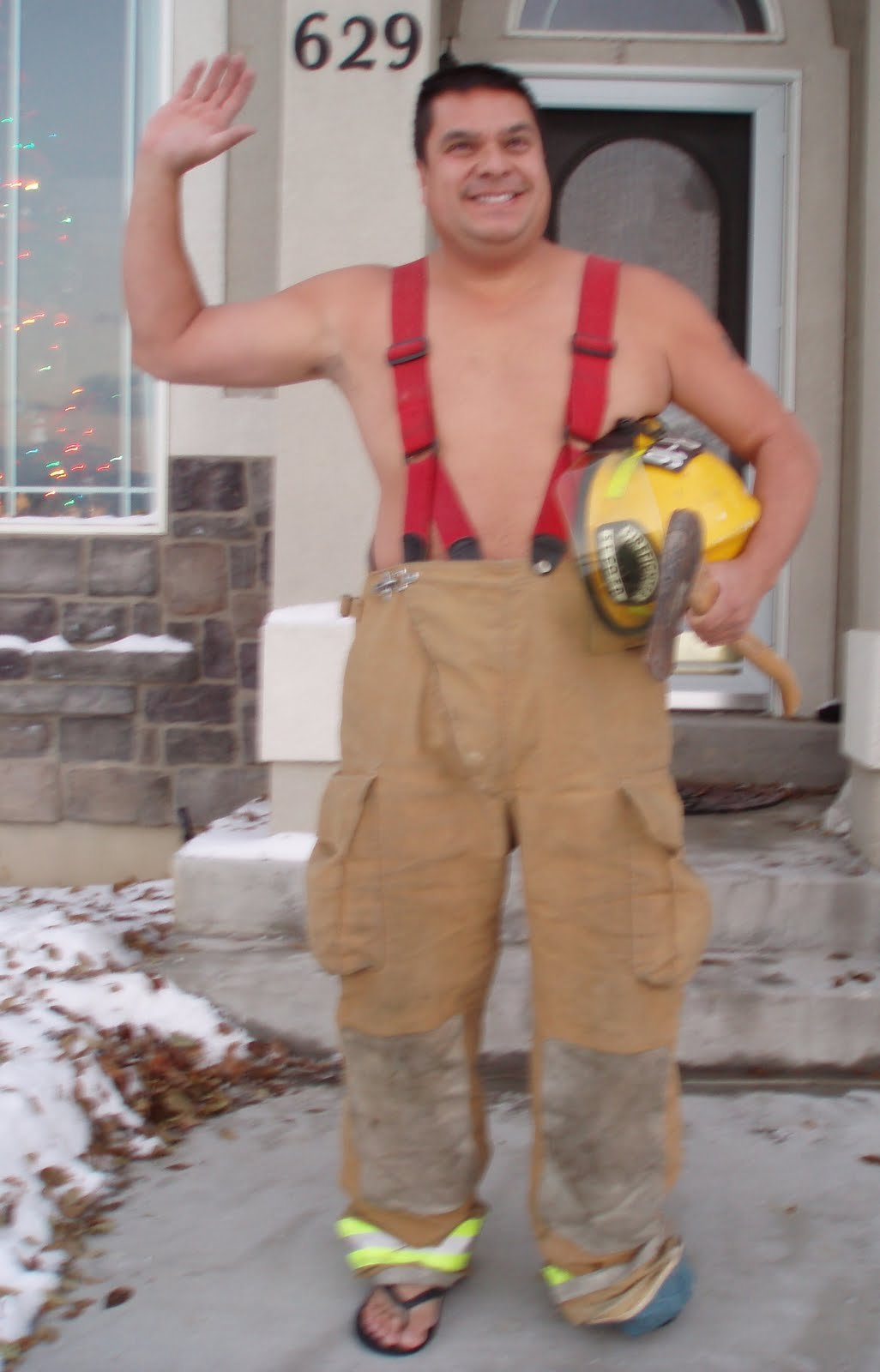 Wave At The Bus: Day 64 - Firefighter Calendar Hunk Hunk Short Timers Calendar