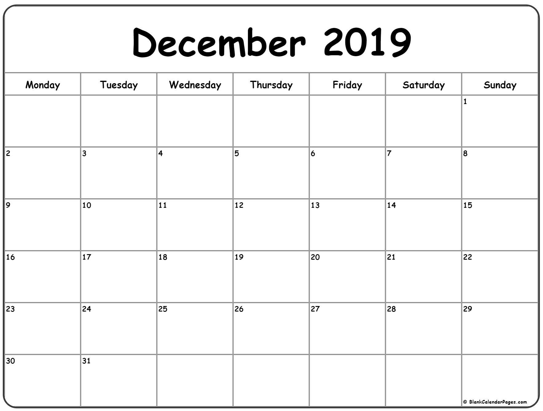Week Calendar Monday To Sunday | Month Calendar Printable Mon Fri Calendar Template