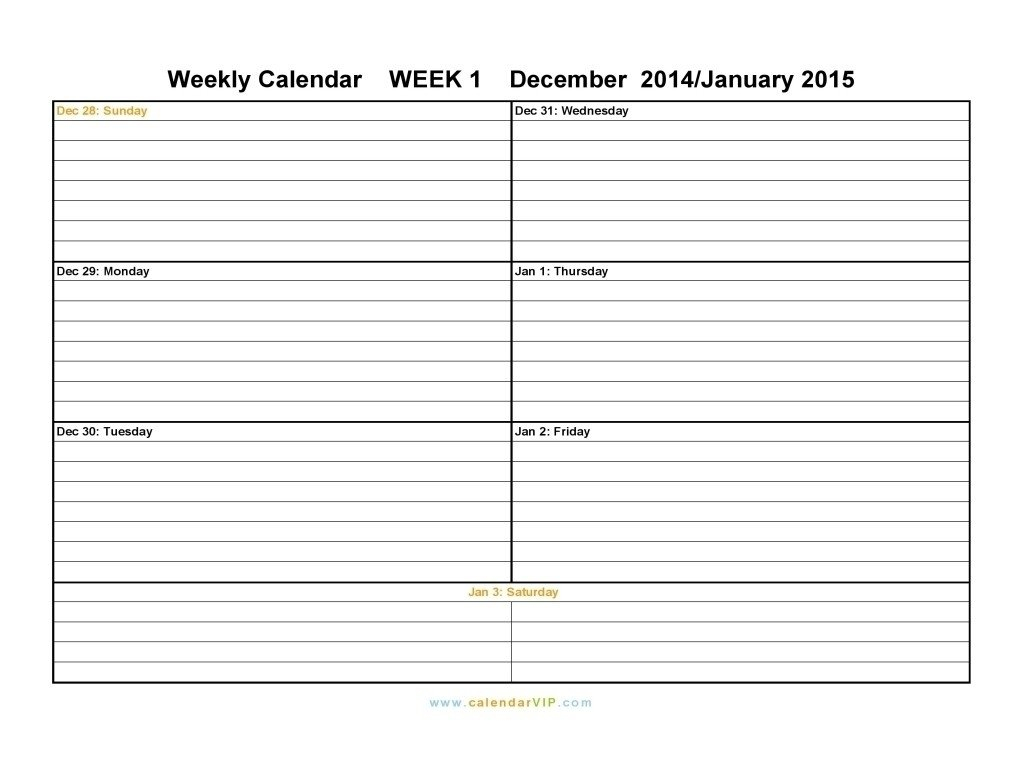 Week Calendar Monday To Sunday | Ten Free Printable Free Monday Thru Friday Weekly Calendar With Time Slotsprintable