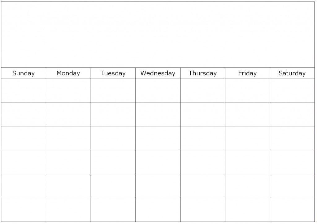 Weekly Calendar Fill In 4 Week Blank Calender Template