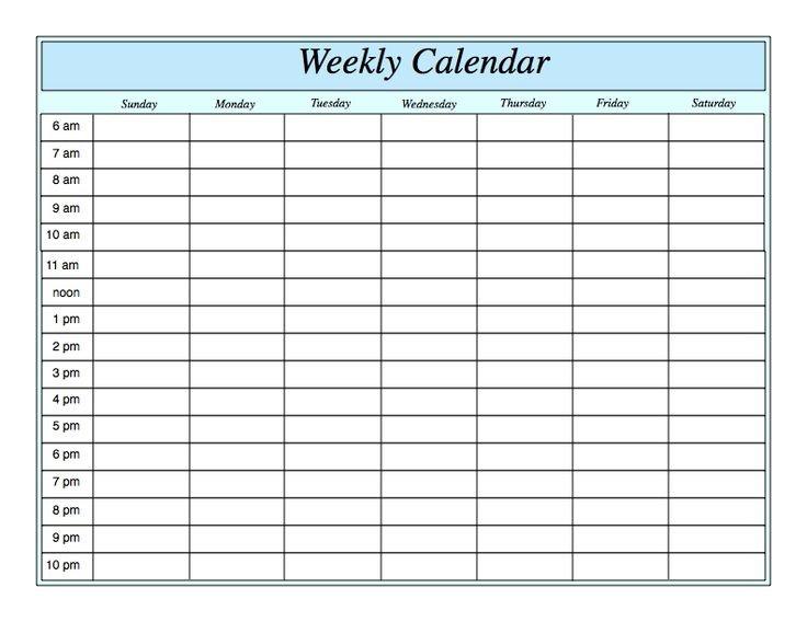 Weekly Calendar Template - Fotolip 4 Week Blank Calender Template