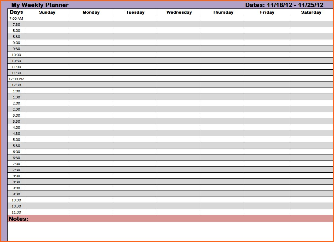 Weekly Hourly Planning Calendar - Driverlayer Search Engine Daily Hour By Hour Calendar Printable