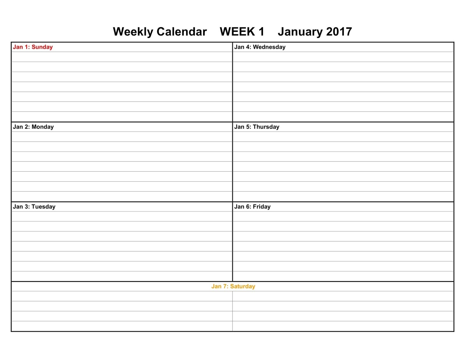 Weekly Printable Calendars Printable 2 Week Calendar