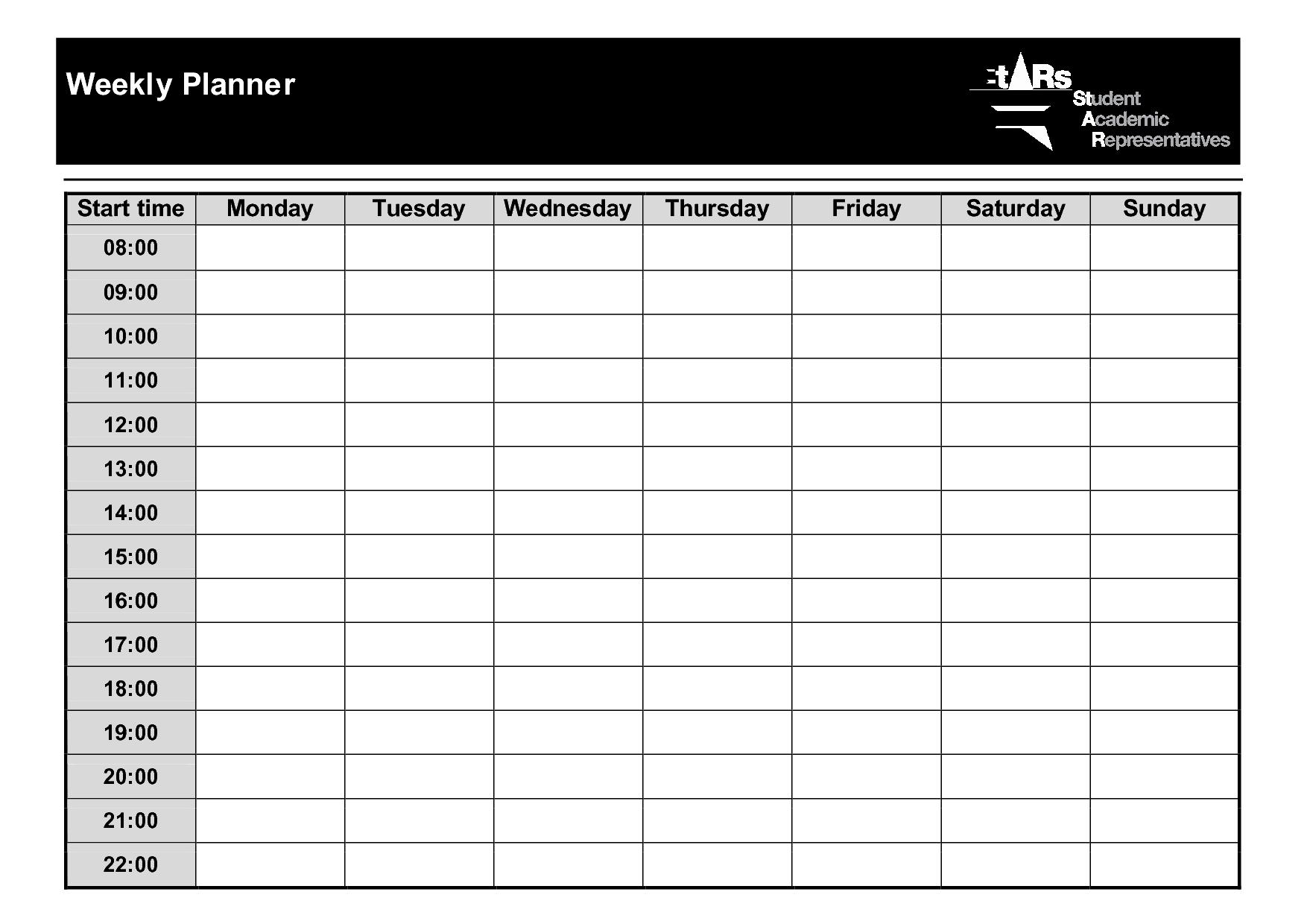 Weekly+Planner+Template+Pdf | Weekly Planner Template 2 Week Planner Printable Free