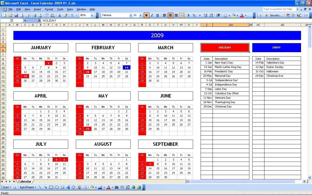 Year View Calendar Excel | Ten Free Printable Calendar Free Printable 5 Year Calendar