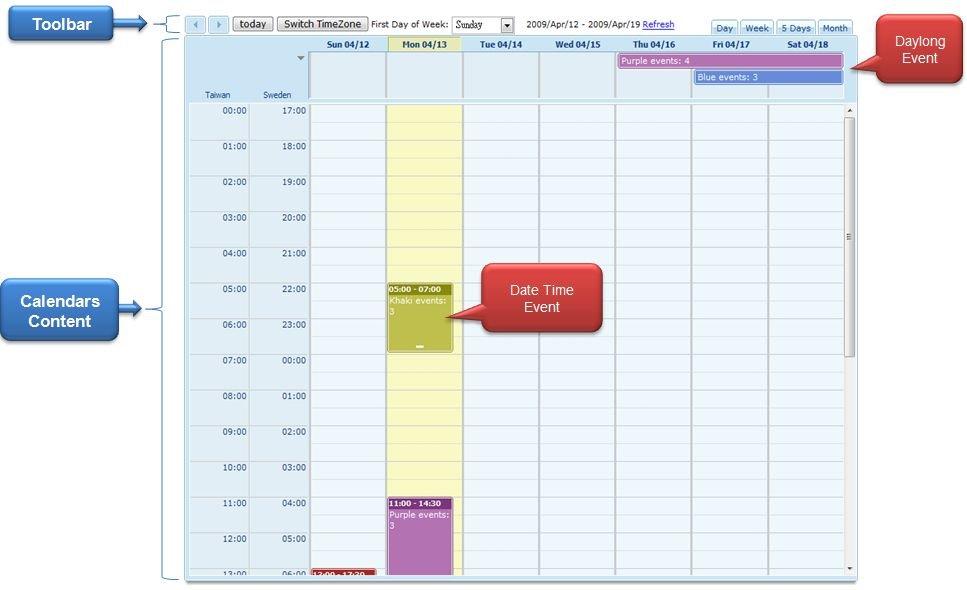 Zk - Small Talks/2010/February/Zk Calendar - Documentation Day Calendar With Times