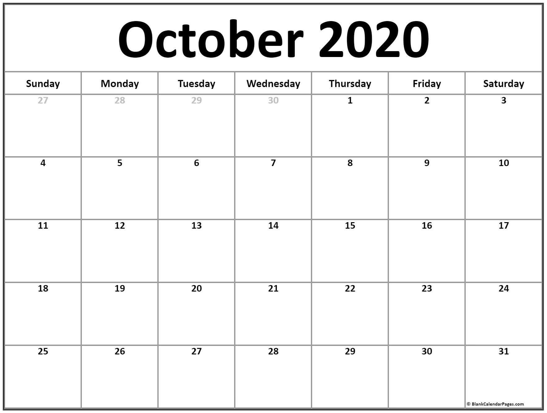 Zodiac Calendar October 2020 | Calendar Printables Free Free Fill In Calendars