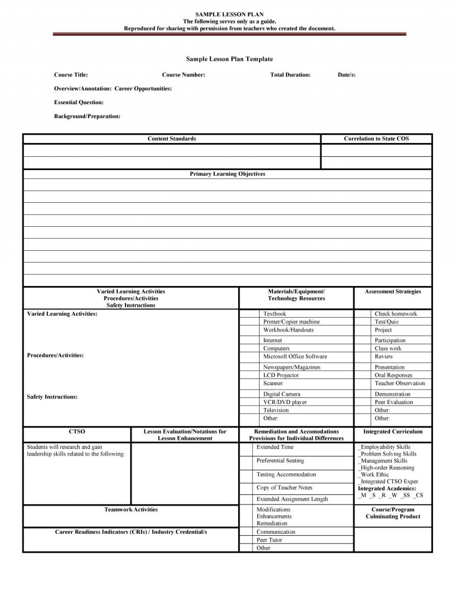 025 Editable Weekly Lesson Plan Template Templates Free Fillable Weekly Schedule