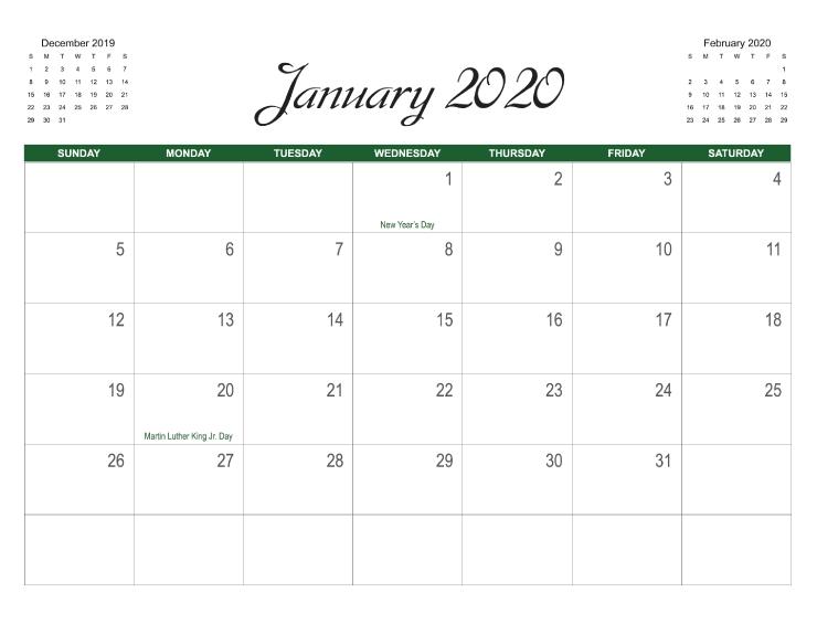 11X17 Online Calendar Template Photo | Calendar Template 2020 11 X 17 Calendar Template