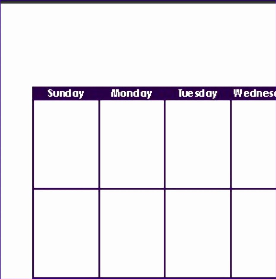12 Excel Template Weekly Calendar - Excel Templates Two Week Calendar Form