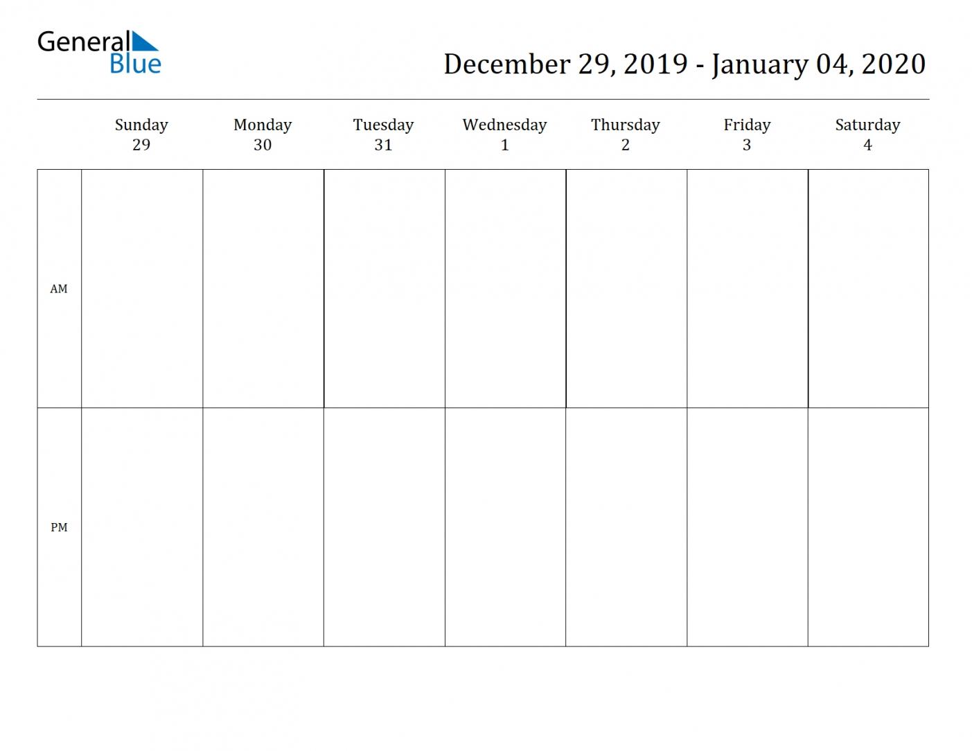 2 Week Blank Calendar 2020 Printable | Free Letter Templates Blank 2 Week Schedule Template